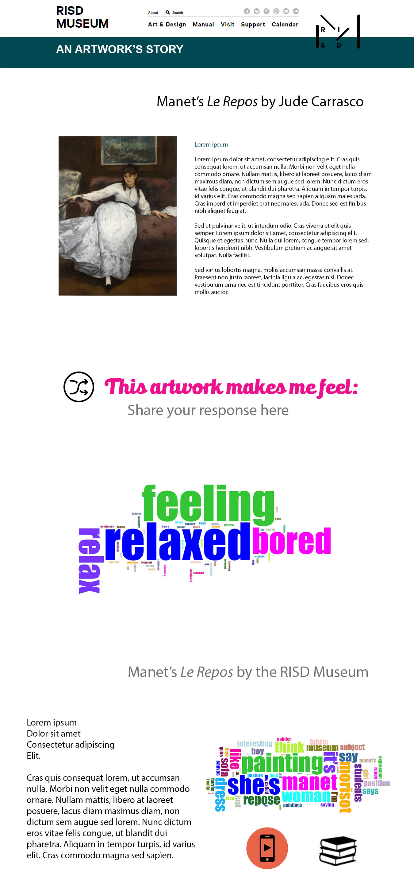 Manet's Le Repos digital space mock-up